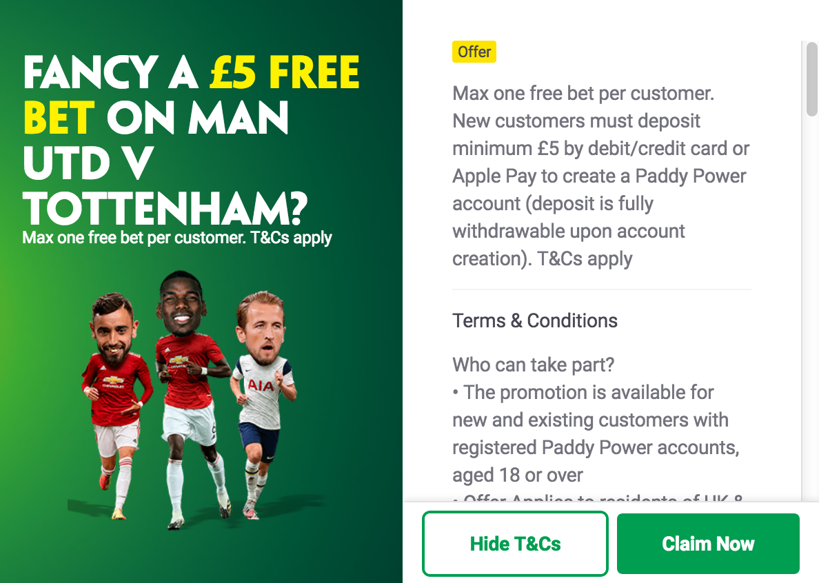 paddy power free bets with noe deposit required
